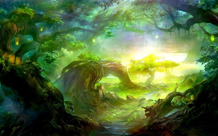 abstract-widewallpaper-jungle-paradise-hd-wallpaper-56937