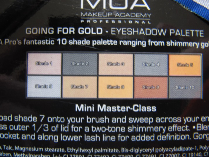 MUA Going for Gold