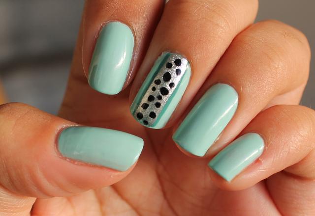 mint groene nagelak