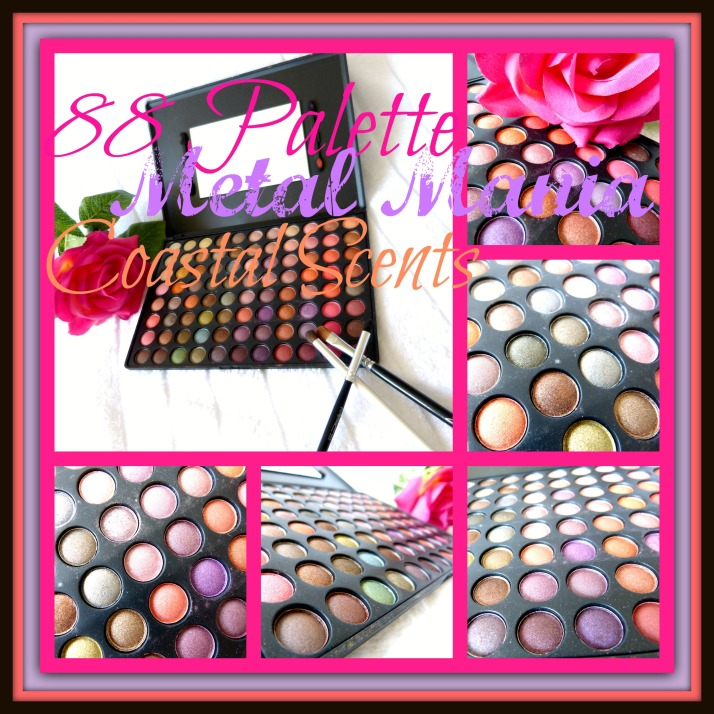 88 palette metal mania coastal scents