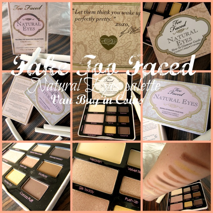 Fake Too Faced Natural Eyes Palette