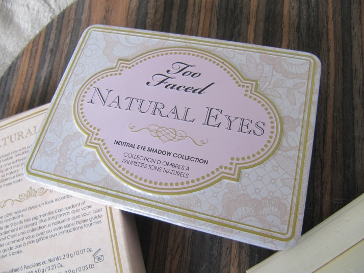 Fake Natural eyes palette Too Faced