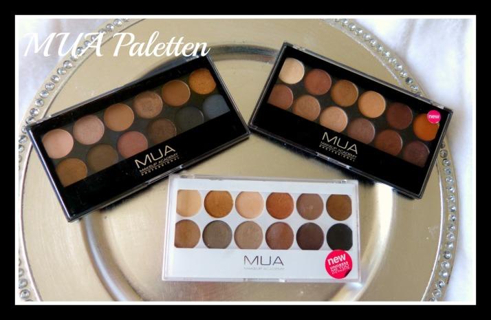 Make Up Academy, MUA, Paletten