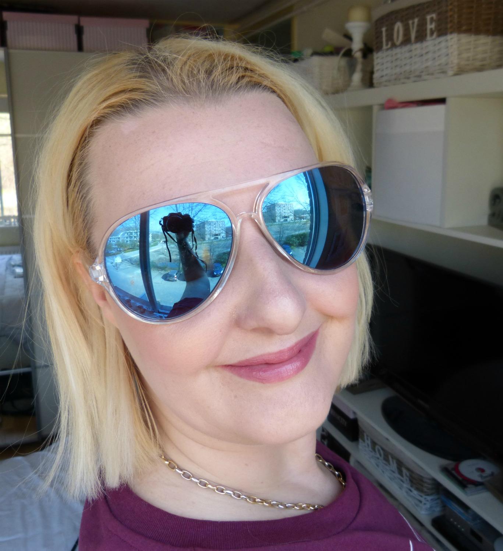 ray ban zonnebril spiegelglas blauw