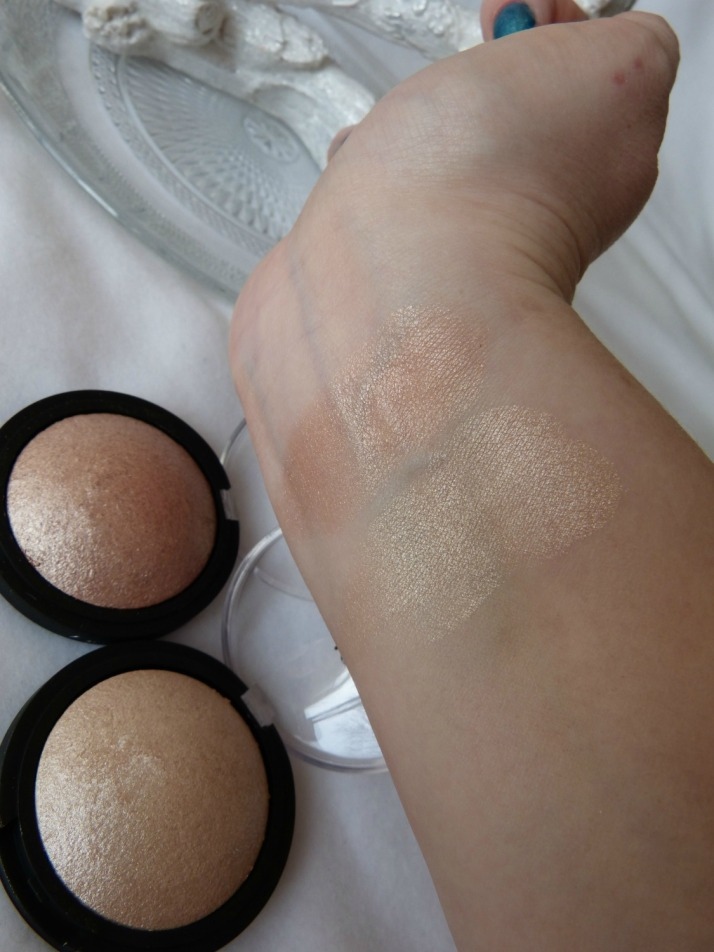 Swatches Baked Highlighters E.l.f