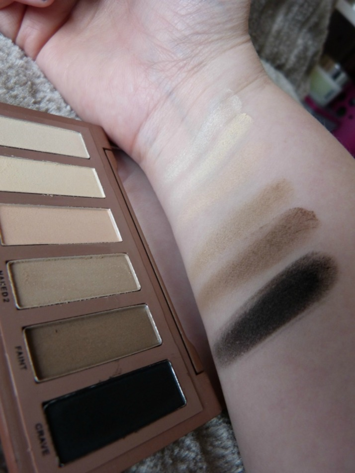 swatches fake naked basics palette