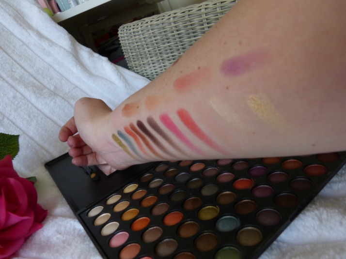 swatches metal mania 88 palette coastal scents