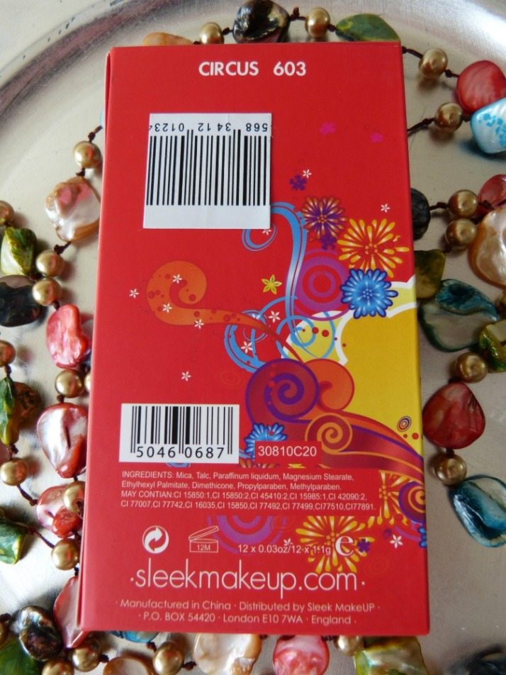 Achterkant Verpakking Sleek Curcus palette