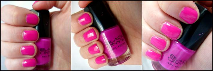 Black Onyx nagellak pink roze fel roze