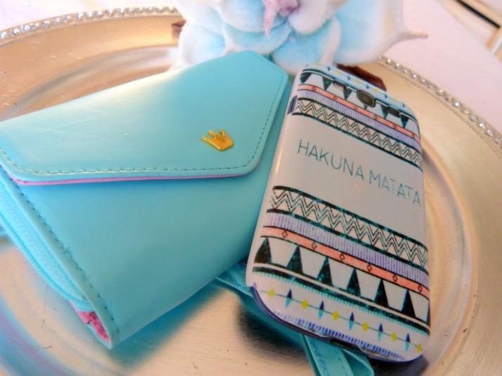 mintgroene phone wallet telefoon portomonnee smartphone