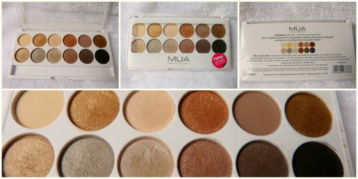 MUA Undress me too Palette duper Urban Decay Naked 2