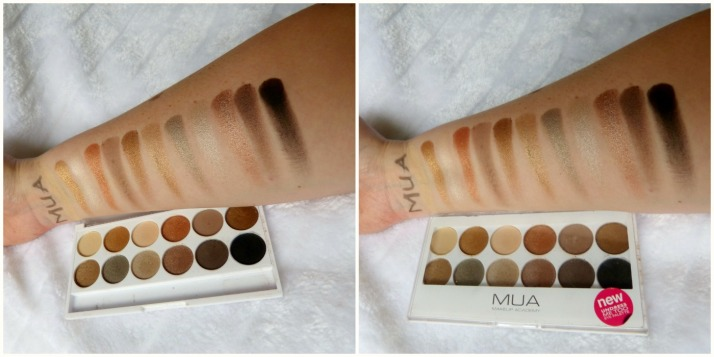 MUA Undress Me Too Palette Swatches