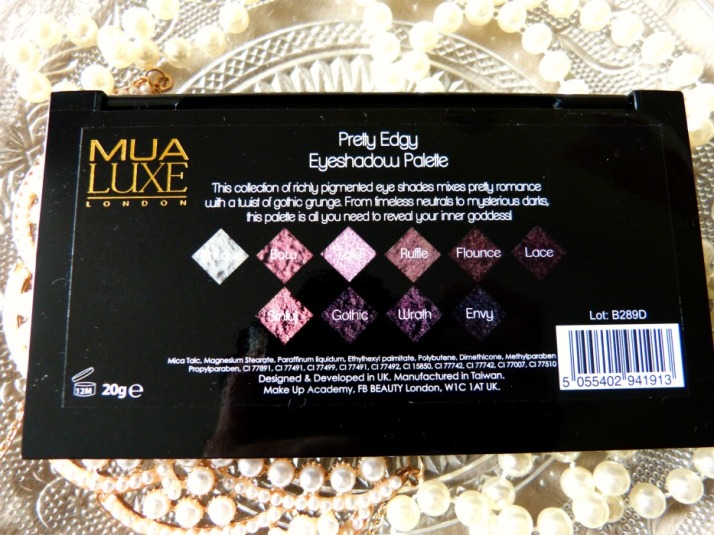 pretty edgy palette make up academy