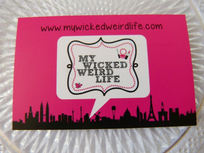 www.mywickedweirdlife.com visitekaartjes vistaprint