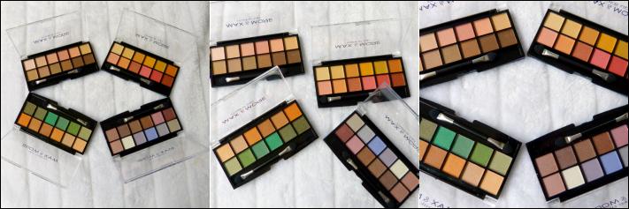 action oogschaduw paletten Budget van Max & more make-up
