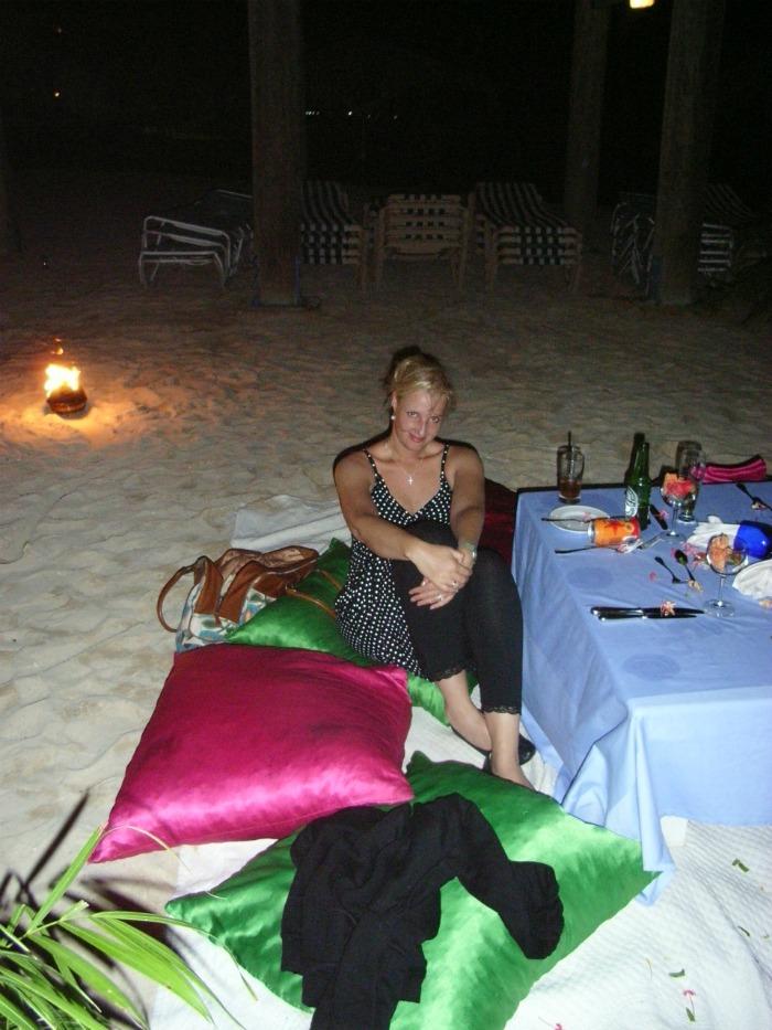 Dineren op het strand in Curacao