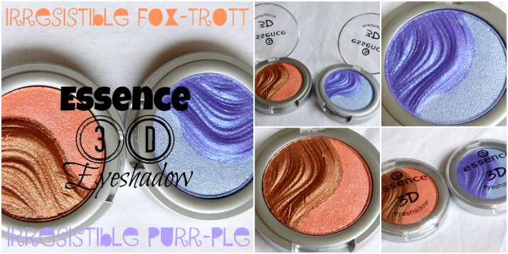 Essence 3D eyeshadow in irresistible fox-trott en irresistible purr-ple