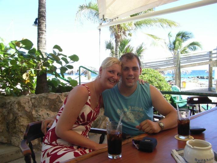 Martijn en ik in Curacao
