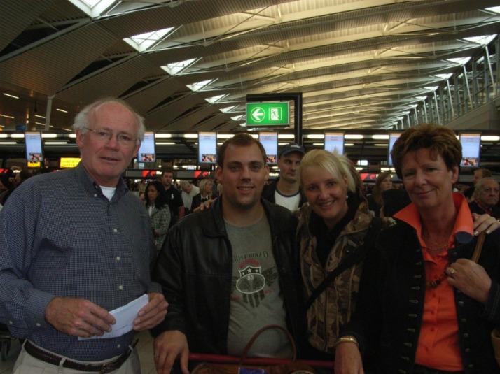 Met Hans en mama op naar Curacao