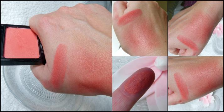 swatches Rustic peach Blush beauty uk