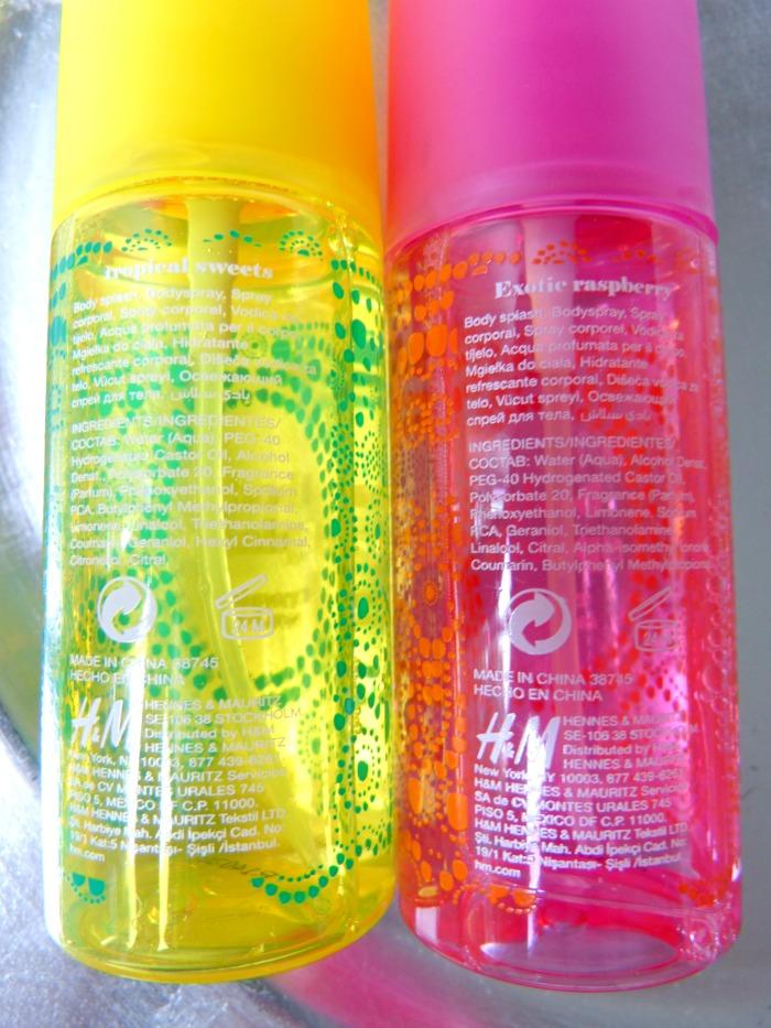 ingrediënten body splash H&M