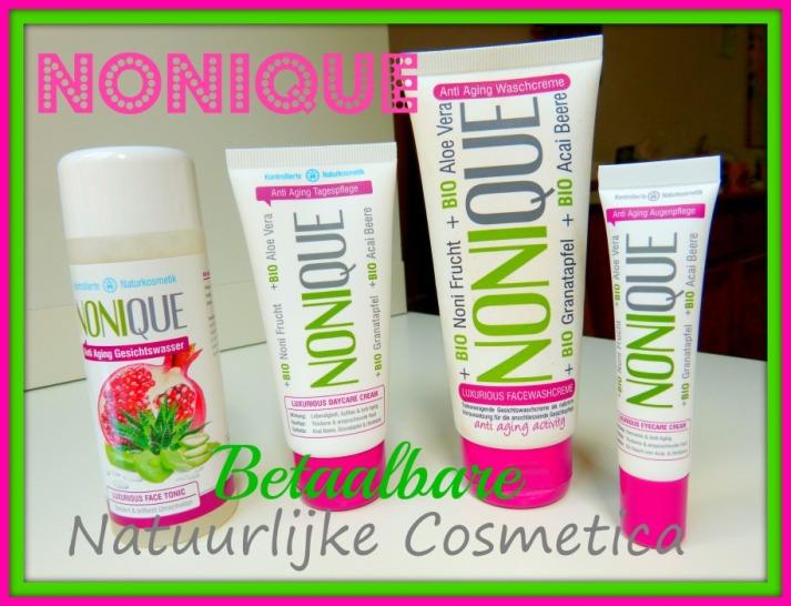 Nonique betaalbare natuurlijke cosmetica