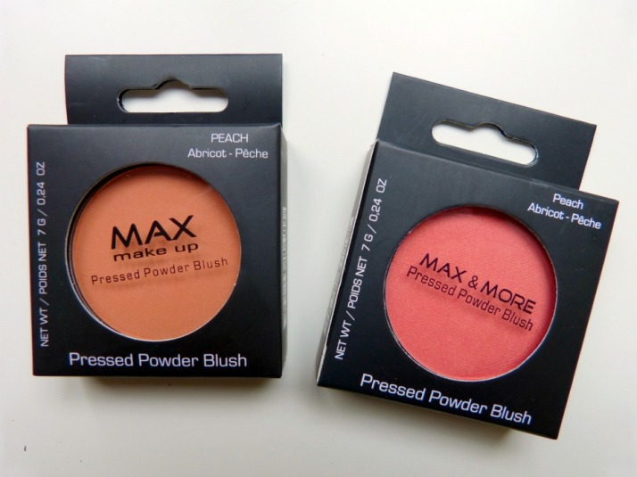 Oude en Nieuwe Action Max & More Makeup Blushes Peach