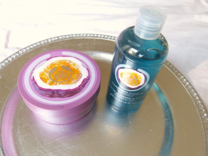 shower gel en Bodybutter bodyshop Passion fruit