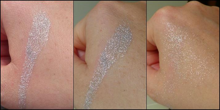 swatches glitter eye dust silver Beauty Uk