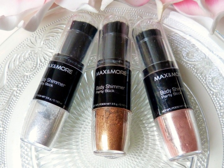 body shimmer party stick Max & More Action