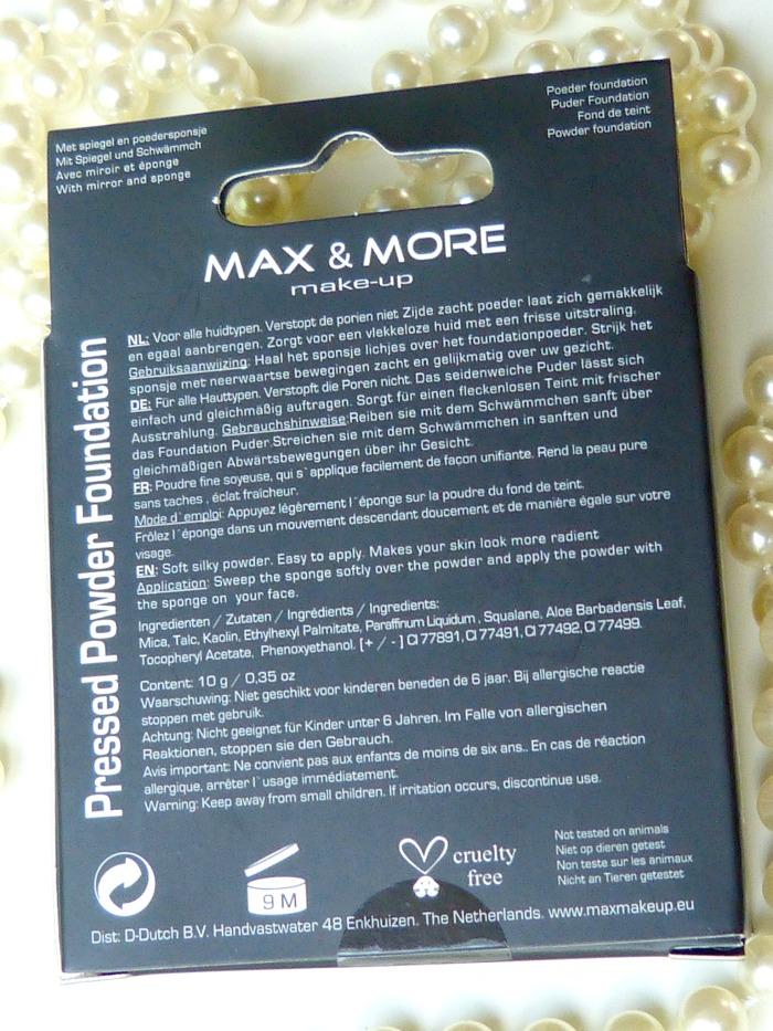 Budget pressed poeder foundation van de Action Max& More