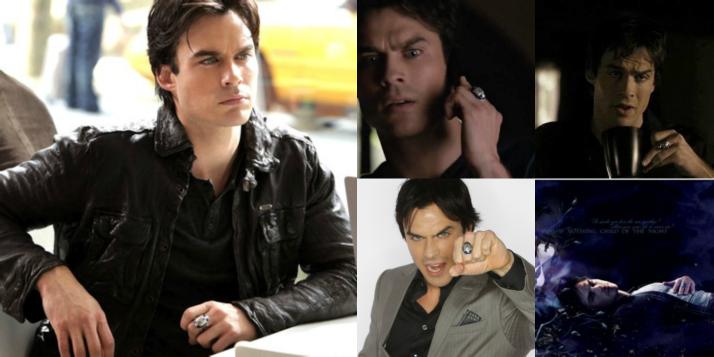 Damon salvatore vampire diaries ring