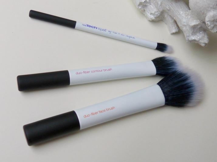 Duo Fiber Brushes Real Techniques Face Brush, Contour Brush, Eye Brush