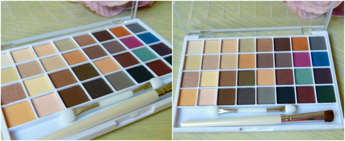 elf oogschaduw palette met 32 natuurlijke kleuren
