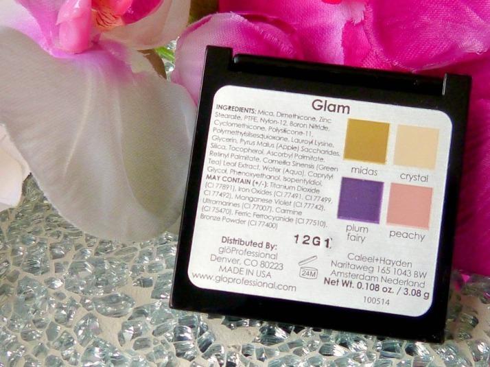 Ingrediënten oogschaduw quad glo minerals Glam