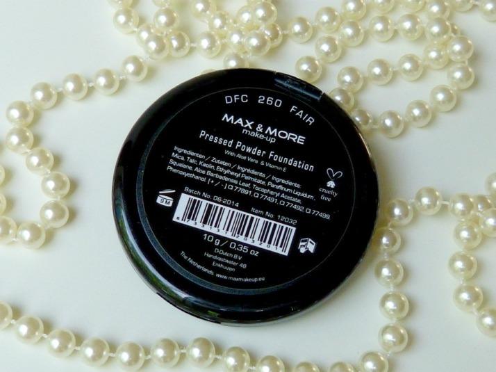 Max & More powder foundation fair