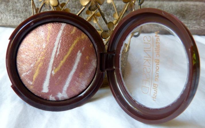 metallic Bronze Blush Primark