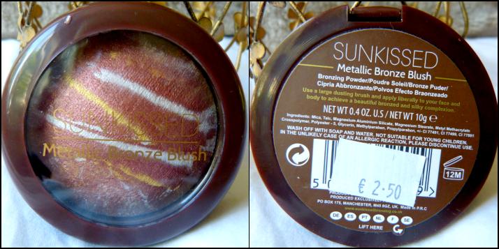 sunkissed metallic bronze blush primark