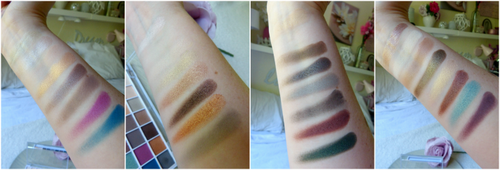 swatches elf eyes lips face e.l.f oogschaduw palette