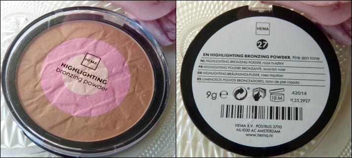 Hema highlighting bronzing poeder roze huidtint