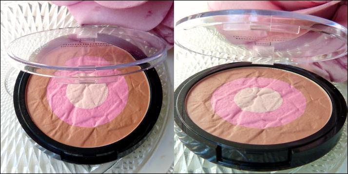 Highlighting bronzing powder pink skintone Hema