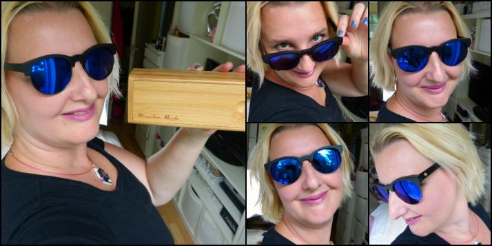 Houten zonnebril van wooden made
