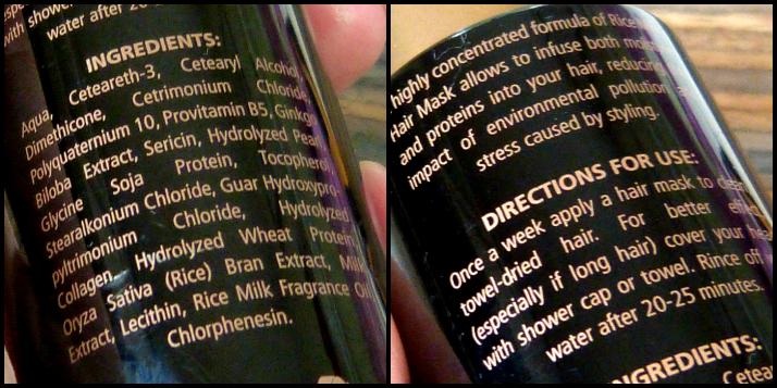 Ingrediënten Hair Mask Bodhi Cosmetics