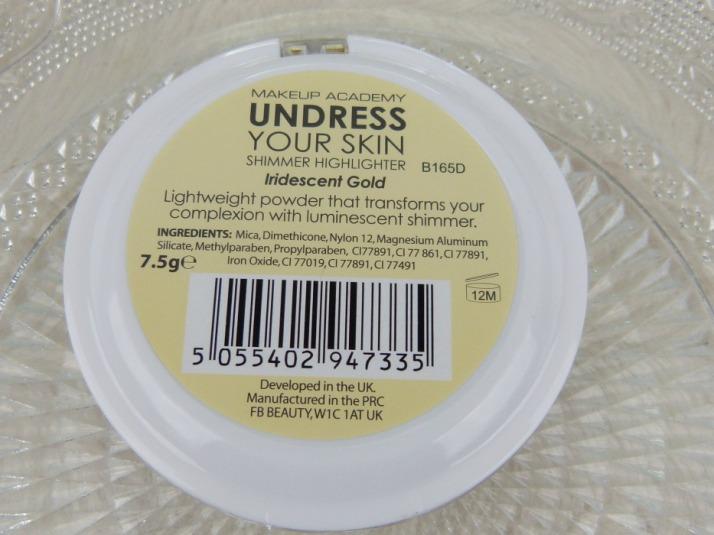 iredescent gold highlighter MUA