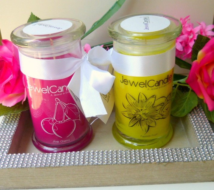 pink cherry en Passion fruit jewel candle