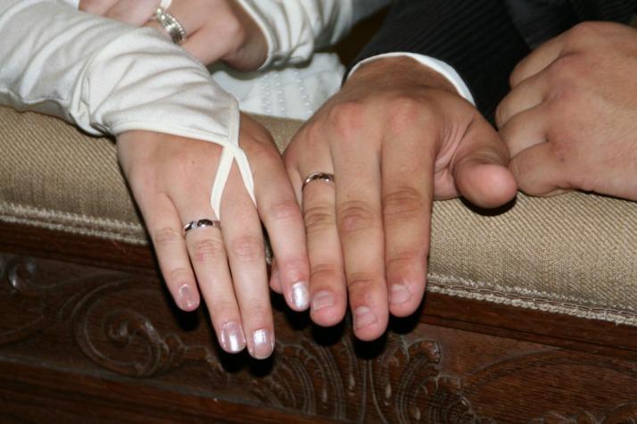 Ringen geven in de kerk