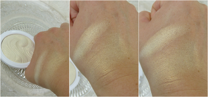 Swatches MUA Highlighter Iredescent gold