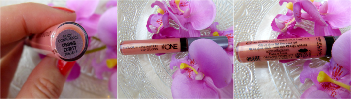 the one by oriflame lipgloss nude confidence