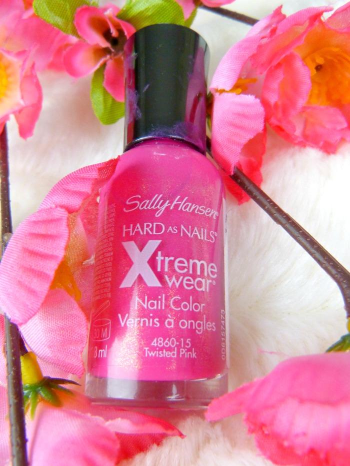 twisted pink nagellak sally hansen