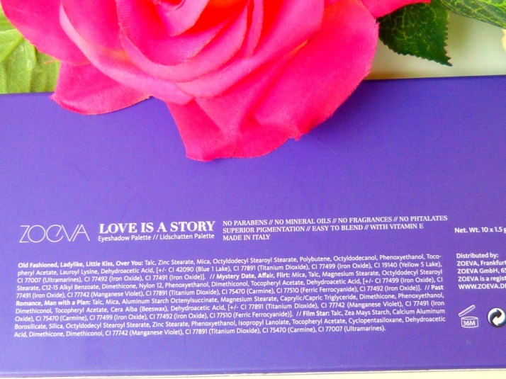 Zoeva oogschaduw palette Love is a Story
